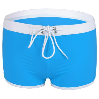Low Waist Lace-Up Boxers Swimming Trunks