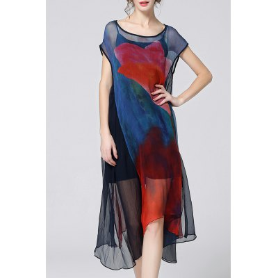 Camisole Dress and Asymmetrical Cover-Up Twinset