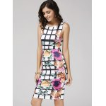 cheap Floral Printed Bodycon Dress