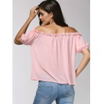 Charming Off-The-Shoulder Puff Sleeve Bowknot Women's Blouse for sale