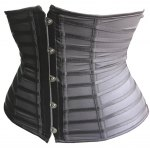 best Trendy Button Embellished See-Through Patchwork Women's Corset