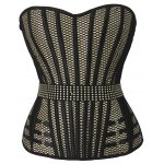 Fashionable Strapless Mesh Design Open Back Women's Bustier for sale