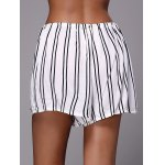 Stylish Striped Loose White High Waisted Shorts for sale