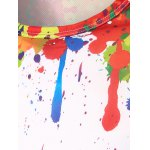 Round Neck 3D Colorful Splash-Ink Printing Long Sleeves T-Shirt For Men deal