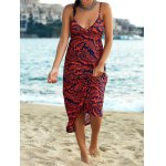 Elegant Printed Empire Waist Women's Bohemian Maxi Dress