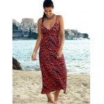 Elegant Printed Empire Waist Women's Bohemian Maxi Dress deal