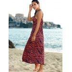 Elegant Printed Empire Waist Women's Bohemian Maxi Dress for sale