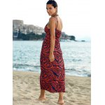 best Elegant Printed Empire Waist Women's Bohemian Maxi Dress