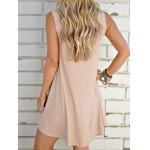 Trendy Plunging Neck Solid Color Sleeveless Dress For Women deal