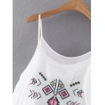 Stylish Cami Ethnic Embroidery White Women's Maxi Dress deal