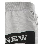 Slimming Trendy Lace-Up Letter Number Print Beam Feet Polyester Men's Sweatpants deal