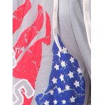 best Beam Feet American Flag Statue of Liberty Letters Print Hit Color Lace-Up Men's Loose Fit Sweatpants