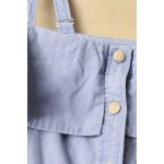 best Cold Shoulder Flounced Denim Dress