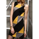 Sleeveless Color Blcok Mini Dress for sale