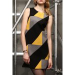 Sleeveless Color Blcok Mini Dress deal