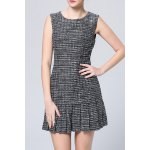 Sleeveless Patchwork Pleated Dress deal