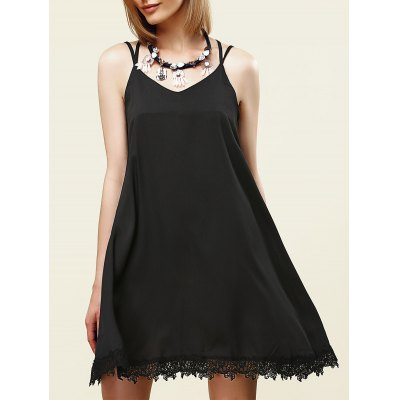 Strappy Lace Embellished Dress For Women