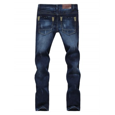 Modish Straight Leg Bleach Wash Zipper Fly Mens JeansMens Jeans<br>Modish Straight Leg Bleach Wash Zipper Fly Mens Jeans<br><br>Material: Cotton Blends,Jeans<br>Pant Length: Long Pants<br>Wash: Bleach<br>Fit Type: Regular<br>Waist Type: Mid<br>Closure Type: Zipper Fly<br>Weight: 0.615kg<br>Pant Style: Straight<br>Package Contents: 1 x Jeans