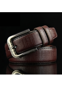 Stylish Rectangle Embossed Casual Belt For Men
