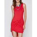 Bodycon Sleeveless Round Neck Asymmetric Women's Dress