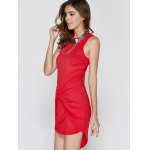 Bodycon Sleeveless Round Neck Asymmetric Women's Dress for sale
