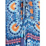 best Ethnic Plunging Neckline Print Long Sleeve Tunic For Women