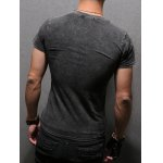Letter Printing Men's Pullover Round Collar Short Sleeves T-Shirt deal