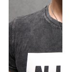 Letter Printing Men's Pullover Round Collar Short Sleeves T-Shirt for sale