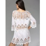 Stylish 3/4 Sleeve Hollow Out Women's Cover Up Dress deal