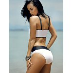 Women's Stylish Hollow Out Hit Color Bikini deal