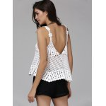 Alluring Plunging Hollow Out Women's Cover-Up Tank Top deal