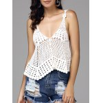Sweet Hollow Out Spaghetti Strap Women's Cover-Up Tank Top