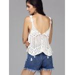 Sweet Hollow Out Spaghetti Strap Women's Cover-Up Tank Top deal