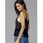 Sweet Spaghetti Strap Hollow Out Fringed Women's Cover Up Top deal