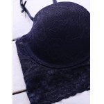 Push-Up Lace Spliced Underwire Bra Set for sale