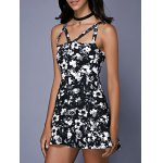 Fashionable Sleeveless Floral Print Cut Out Slimming Women's Dress