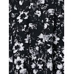 best Fashionable Sleeveless Floral Print Cut Out Slimming Women's Dress
