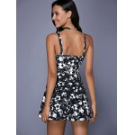 Fashionable Sleeveless Floral Print Cut Out Slimming Women's Dress for sale
