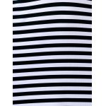 Trendy Plunging Neck Sleeveless Striped Bodycon Dress For Women for sale