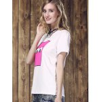 Women's Fashionable Monster Eyes Print Round Neck T-Shirt for sale