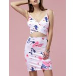 Fashion Cami Cut Out Bodycon Floral Dress For Women