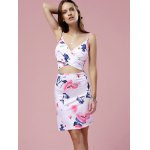 Fashion Cami Cut Out Bodycon Floral Dress For Women photo