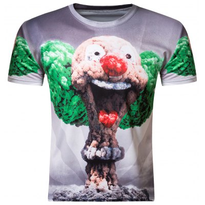 3D Round Neck Short Sleeve T-Shirt
