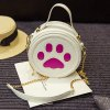 cheap Cute Paw Print and Round Shape Design Tote Bag For Women