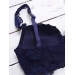 Alluring See-Through Crossed Design Lace Bra Set For Women deal