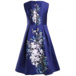 cheap Women's Chic Round Neck Sleeveless Floral Print Dress