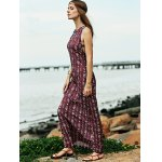 Bohemian Open Back Women's Maxi Prom Dress in Plum deal