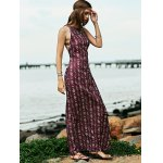 Bohemian Open Back Women's Maxi Prom Dress in Plum for sale