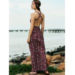 best Bohemian Open Back Women's Maxi Prom Dress in Plum
