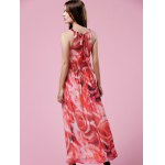 best Elegant Floral Print Halter Neck Women's Maxi Dress